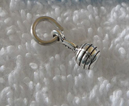 Sterling Silver 3D Tiny 10x5mm Baby Rattle Maraca Charm Jewelry Making Supply, Pendant, Sterling Charm, Bracelet, Beads, DIY Crafting and Other by Wholesale Charms