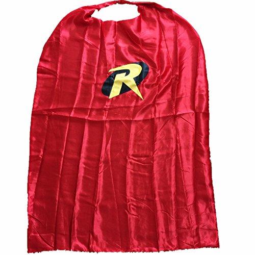Starkma Adult Robin Superhero Stain Cape Costume Red