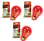 Zilla Incandescent Bulb, Night Red Heat, 50 Watt (3 Pack)