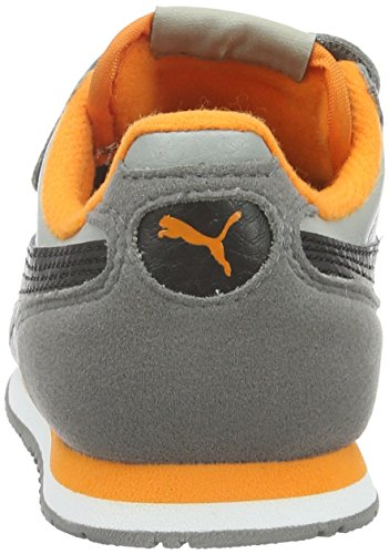 Puma Unisex-Kinder Cabana Racer SL V PS Low-Top Grau (Limestone-puma Black 44)