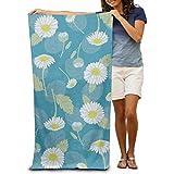 """DIMANNU Bath Towel Daisy Patterned Soft Beach Towel 31""""x 51"""" Towel With Unique Design"""