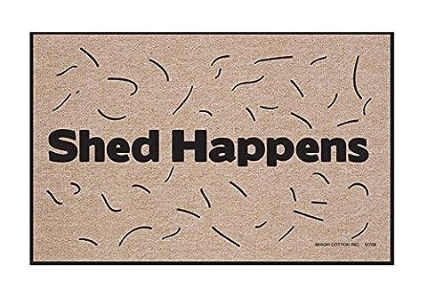 Shed Happens Funny Indoor/Outdoor Welcome Doormat (Humor Doormat)