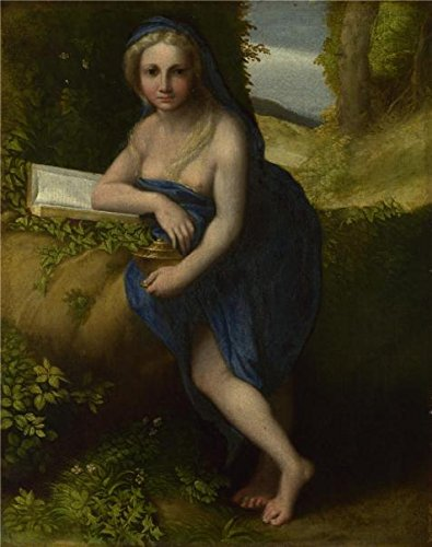 - High Quality Polyster Canvas ,the Best Price Art Decorative Prints On Canvas Of Oil Painting 'Correggio - The Magdalen,about 1518-19', 16x20 Inch / 41x51 Cm Is Best For Foyer Decor And Home Gallery Art And Gifts