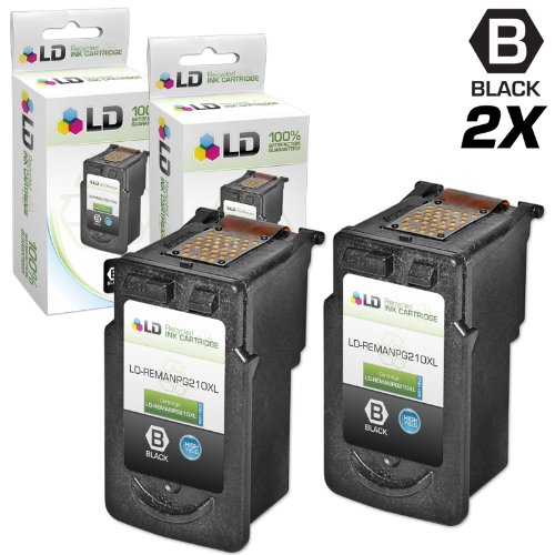 LD © Canon Remanufactured PG210XL / PGI210 Set of 2 High ...