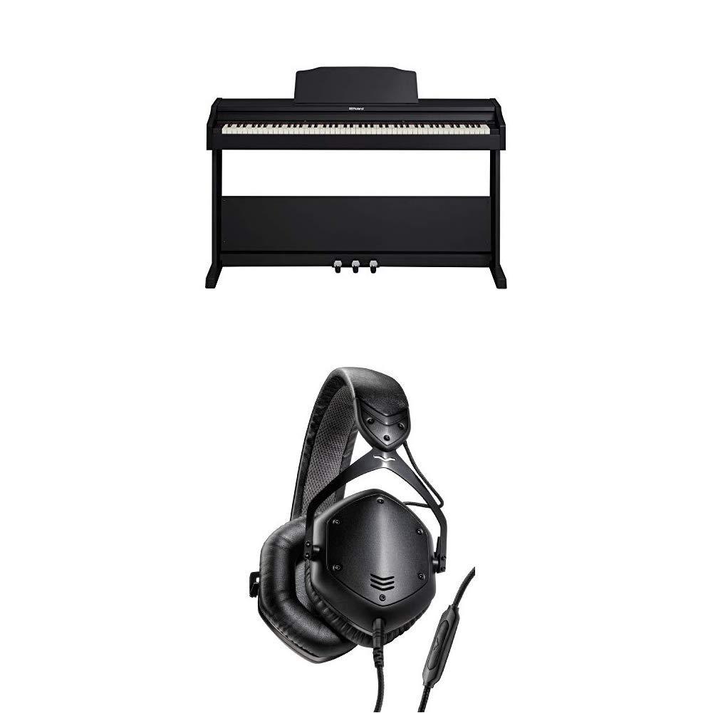 Roland Digital Piano (RP-102) and V-MODA Crossfade LP2 Headphones by Roland