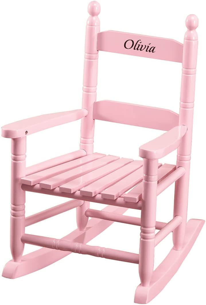 Miles Kimball Personalized Pink Children's Rocker