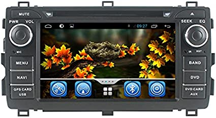 Double 2 Din Car Stereo in-Dash 7 inch Touch Screen,Unine Car Digital Media Radio MP5 Player Touchscreen with Bluetooth,FM,Car Audio,USB//AUX Input,Suport Rear View Camera