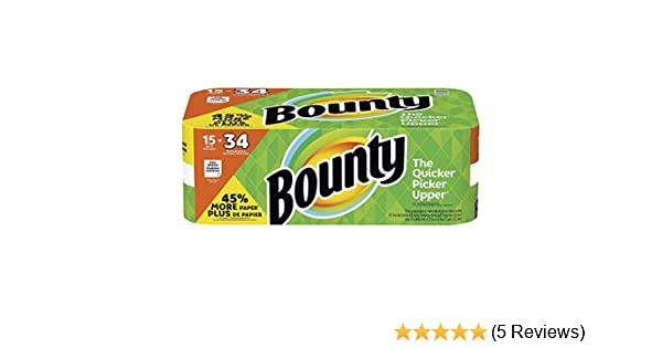Amazon.com: Bounty Paper Towels (15 Gigantic Rolls): Health & Personal Care
