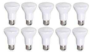 10 Pack Bioluz LED BR20 LED Bulb Dimmable 7W = 50 Watt Replacement Soft White 3000K Indoor/Outdoor Floodlight LED Bulbs Medium Base E26 UL Listed (Pack of 10)