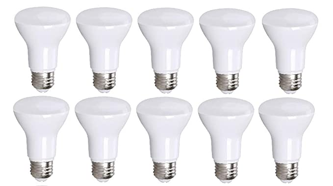 10 Pack Bioluz LED BR20 LED Bulb Dimmable 7W=50 Watt Replacement Soft White 3000K Indoor/Outdoor Floodlight LED Bulbs Medium Base E26 UL Listed ...