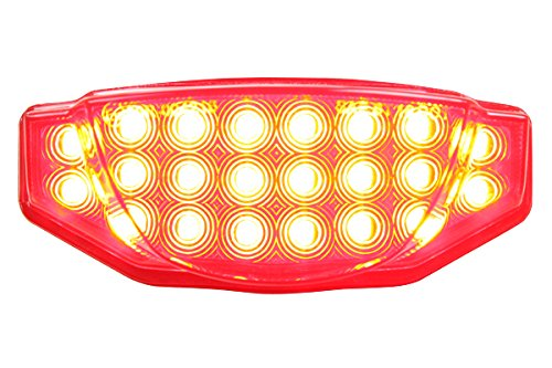 2015-2016 Ducati Scrambler Integrated Sequential LED Tail Lights Smoke Lens (Turning Pro Led)