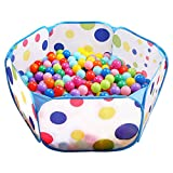 Kids Ball Pit, EocuSun Large Pop Up Toddler Ball Pits Play Tent for Toddlers Girls Boys for Indoor Outdoor Baby Playpen w/ Zipper Storage Bag, Balls Not Included, 39.4 Inch (Blue)