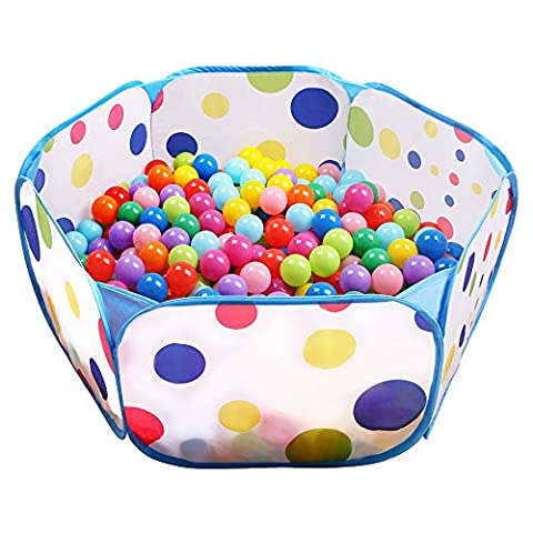 Kids Ball Pit EocuSun Large Pop Up Toddler Ball Pits Tent for Toddlers Girls Boys for Indoor Outdoor Baby Playpen w/ Zipper Storage Bag, Balls Not Included (Pit For Kids)