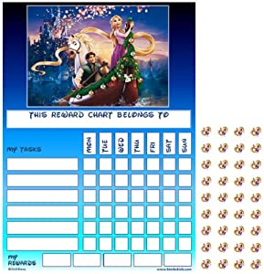 Disney Tangled Rapunzel Good Behaviour Reward Task Chart