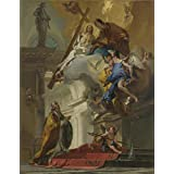 Canvas Prints Of Oil Painting ' Giovanni Battista Tiepolo A Vision Of The Trinity ' , 10 x 13 inch / 25 x 33 cm , High Quality Polyster Canvas Is For Gifts And Bar, Basement And Home Office Decoration