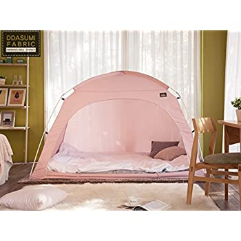 DDASUMI Fabric Indoor Tent for Double Bed (Pink) - Blocking Cold air Privacy  sc 1 st  Amazon.com & Amazon.com: DDASUMI Fabric Indoor Tent for Double Bed (Pink ...