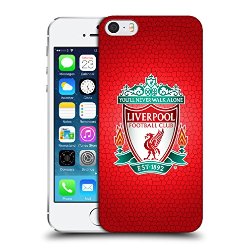 Official Liverpool FC LFC Red Pixel 1 LFC Crest 2 Hard Back Case Cover for Apple iPhone 5 / 5s