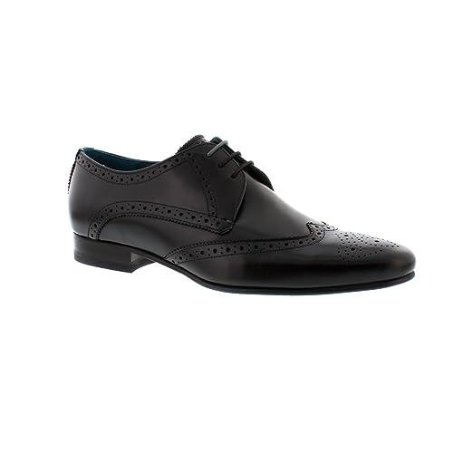 Hosei - Black Leather Mens Shoes
