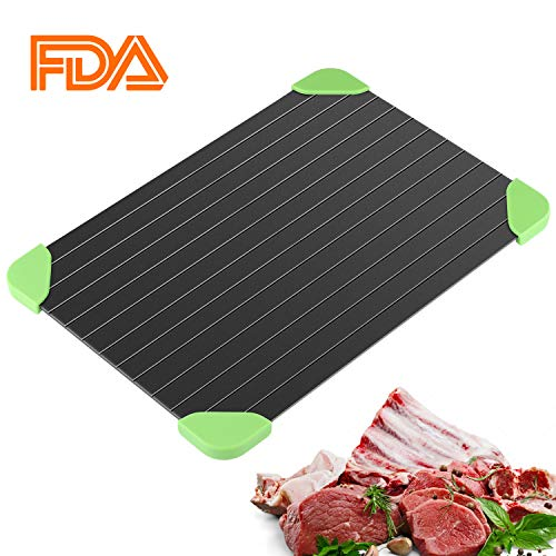 Defrosting Tray, Thawing Plate for Fast Defrosting of Frozen Foods -The Quicker and Safest Way to Defrost Meat,Chicken, Fish Without Electricity or Hot Water