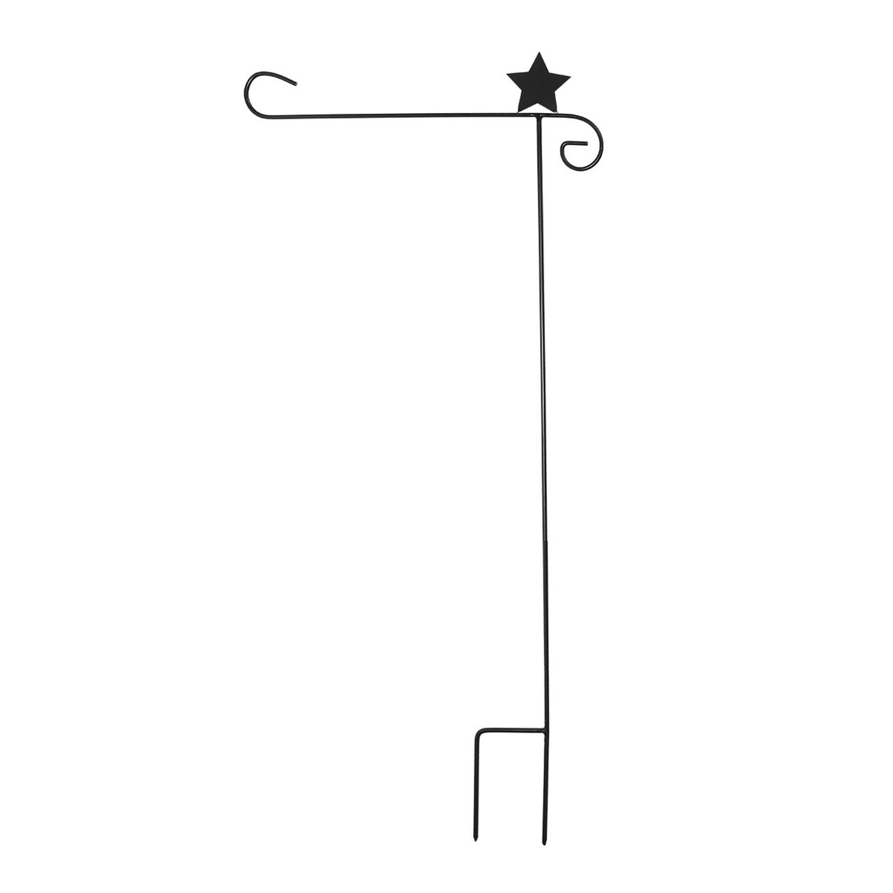 Briarwood Lane Wrought Iron Star Garden Flag Stand 40'' H