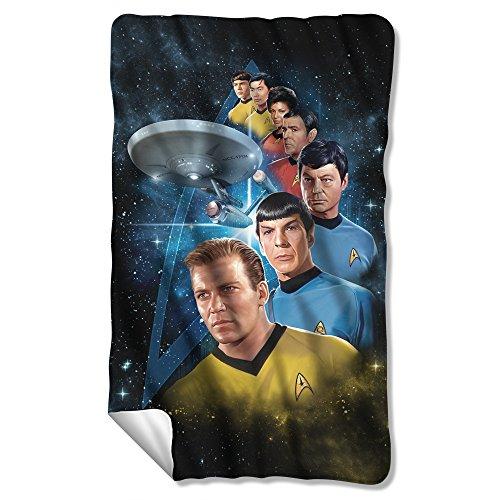 Among The Stars -- Star Trek -- Fleece Throw Blanket (Blanket Throw Series Fleece)