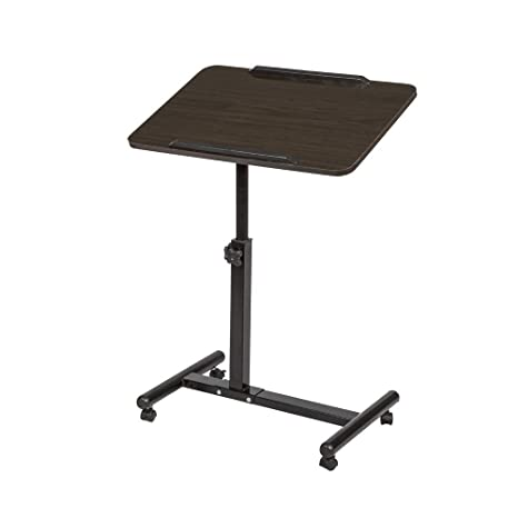 Fine Homesailing Small Adjustable Laptop Side Table Desk With Wheels For Sofa Bed Couch Mobile Cart Rolling Desk For Pc Workstation For Small Space Wood Home Interior And Landscaping Oversignezvosmurscom