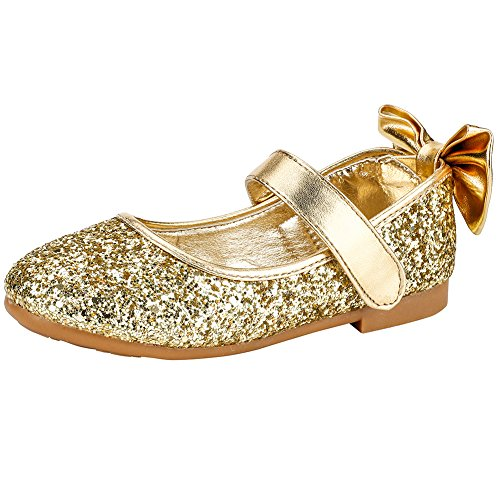 Cixi Maxu E-Commerce.Co.Ltd Maxu Girls Fashion Mary Jane Party Dress Shoe,Gold,Little Kid,1.5M by Cixi Maxu E-Commerce.Co.Ltd