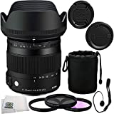Sigma 17-70mm F2.8-4 DC Macro OS HSM Lens Kit for Nikon Includes: Sigma 17-70mm DC Macro OS HSM Lens, 3 Piece Filter Kit (UV-FLD-CPL), Lens Pouch, Lens Cap Keeper and SSE Microfiber Cleaning Cloth