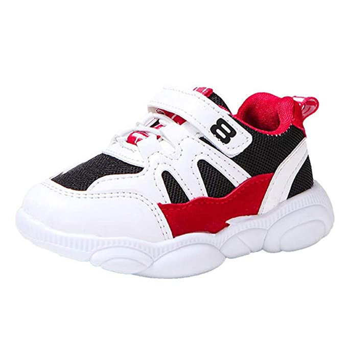 Kids Toddler Baby Boy Girl Soft Mesh Breathable Sport Shoes Sneakers Trainers US