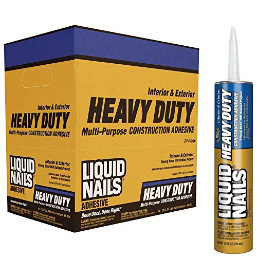 Liquid Nails LN-903 12 Pack Heavy Duty Construction Adhesive, Tan