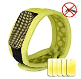 Mosquito Repellent Bracelet-Ideal Pest Control for Travel-Natural Insect Repeller with 5 Refills-NO SPRAY-NO DEET Repellent for Babies,Kids and Adults-Waterproof-Enjoy Outdoor Protection