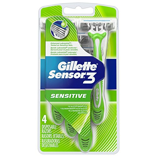 Gillette Sensor 3 Disposable Razors Men's 4 Each (Pack of 2)