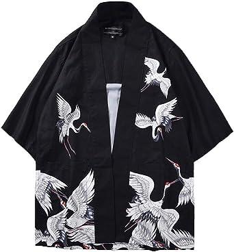 Kimono Cardigan Hombre Mujer Chaqueta con Estampado Manga 3/4 Tops Blusa: Amazon.es: Ropa y accesorios