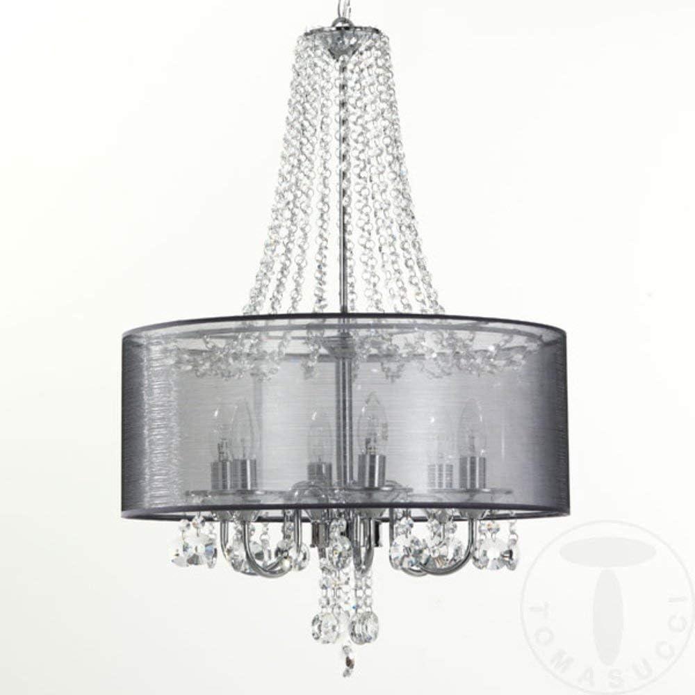 Argento Lampadario Boston Wink design