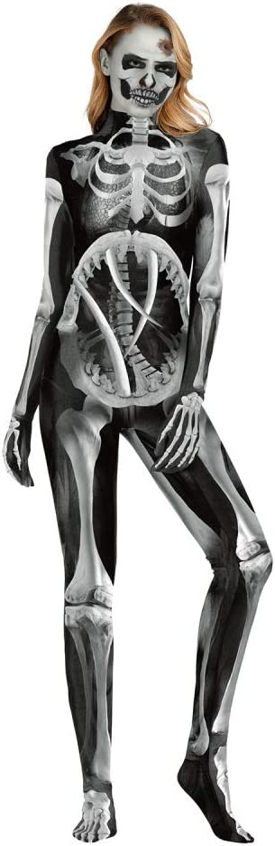 WXJWPZ Disfraz De Calavera De Hueso Mecánico Disfraz De Halloween ...