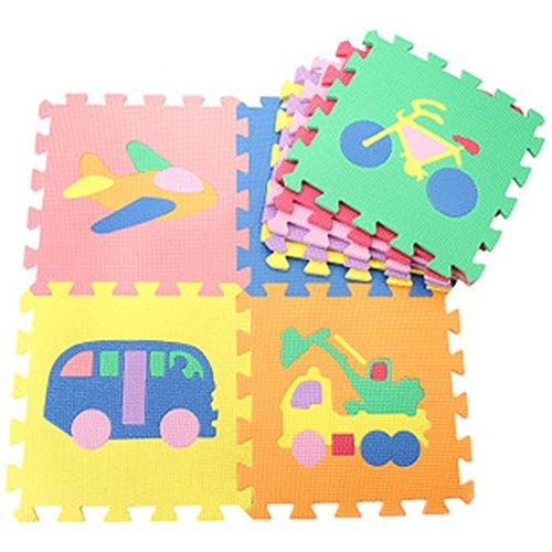 GreenSun TM Baby Infant Cartoon EVA Play Mats Quiz Games Jigsaw Foam Crawling Cushion Traffic Play Mats for Baby