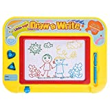 Magnetic Doodle Drawing Board Toddler Toys Writing Sketching Board for Children Boys Girls Travel Doodle Toys for Toddlers Kids Birthday Gifts Write and Learn Creative Center With 4 Color Zones