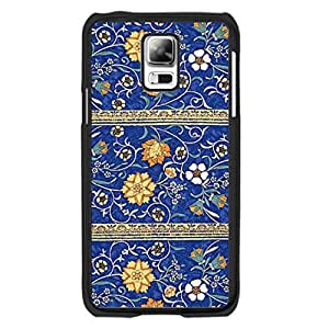 Fashion Hybrid Flowers Design Samsung Galaxy S5 I9600 Case Cover Retro Hipster Colorful Floral Print Hard Plastic Cell Phone Cases for Women
