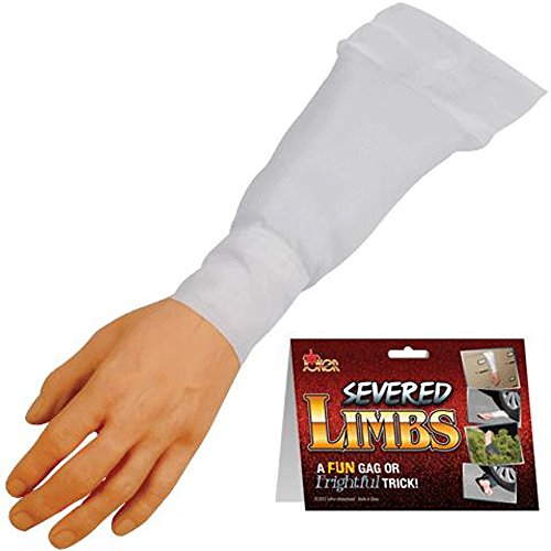 Realistic Fake Suprising Arm / Hand with White Sleeve - Halloween Prop