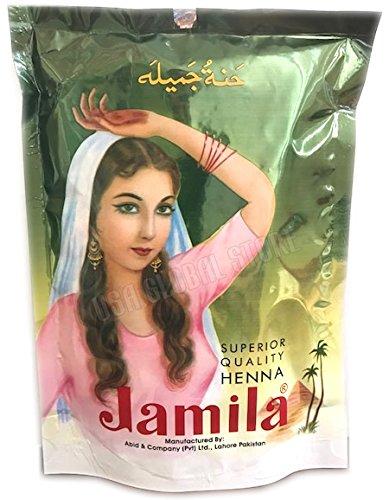 Jamila Henna Powder, 250 grams (2017 Crop) (Best Henna Cone Brand)