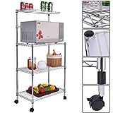 3-Tier Kitchen Baker's Rack Microwave Oven Stand Storage Cart Workstation Shelf
