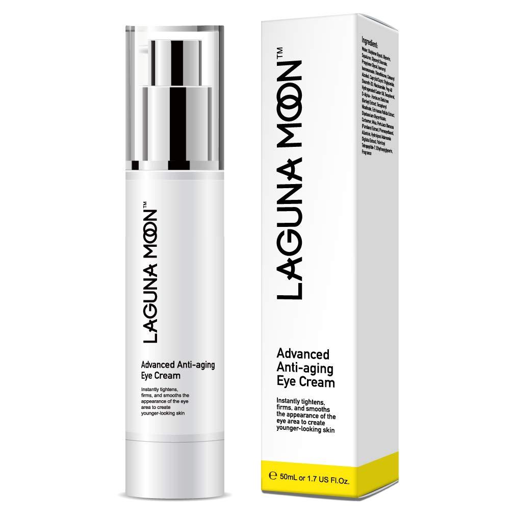 Lagunamoon Anti Aging Eye Cream for Dark Circles,Puffiness,Wrinkles,Finelines,Used Around and Under Eyes-1.7 FL Oz.