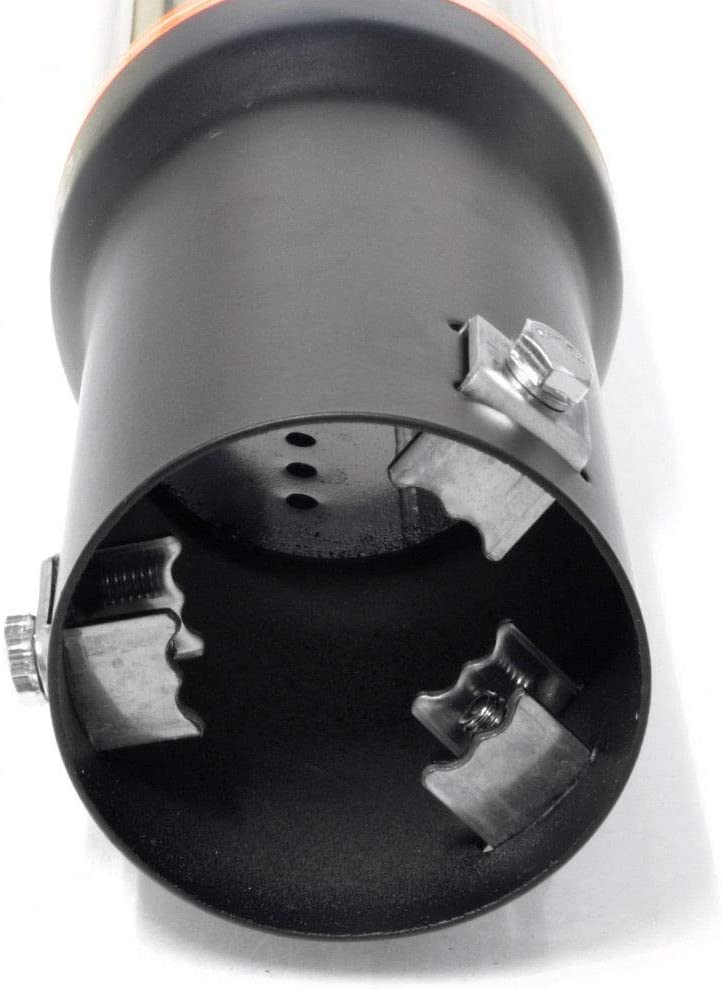 Autohobby 0076 Auspuffblende Auspuff Universell Schalldampf Endrohr Edelstahl bis 56mm /Ø Chrom