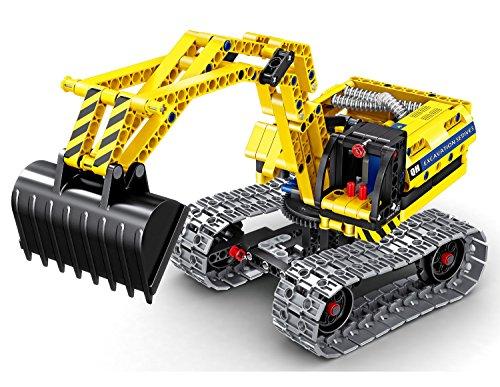 Bo Toys Building Bricks STEM Toy, 342 Pcs Excavator & Robot