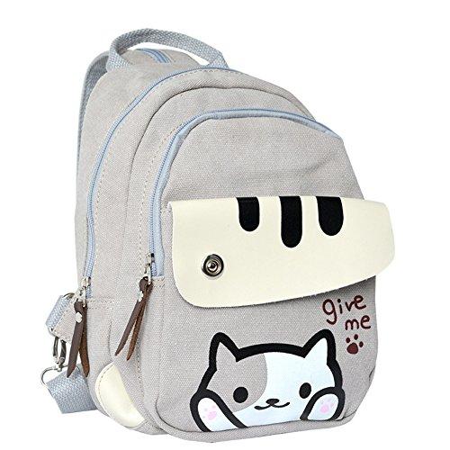 Anime Neko Atsume Multifunctional Shoulder Bag Knapsack Japanese Game Cat  Backpack e489df926b7af