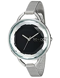 SO & CO New York Women's 5104.2 SoHo Analog Display Japanese Quartz Silver Watch