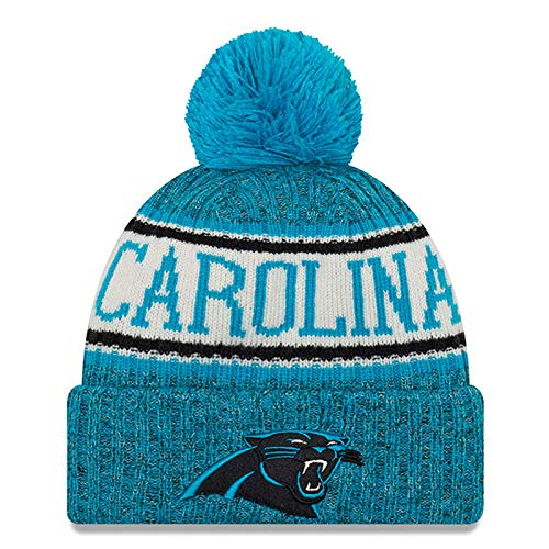 New Era Knit Carolina Panthers Blue On Field