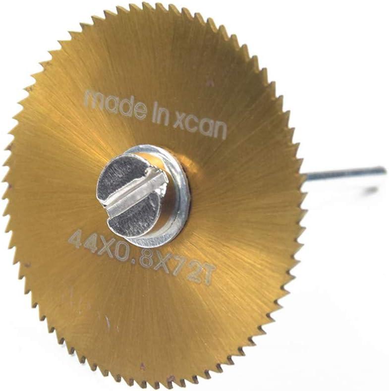 1//20,3/cm Tige en acier /à haute vitesse de roue de coupe de bois avec mandrins Lot de 6 Rev/êtement titane HSS Lames de scie circulaire Disques Dremel outils rotatifs pour bois Plastique M/étal