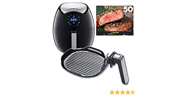 Amazon.com: GoWISE USA 3.7-Quart 7-in-1 Electric Air Fryer + Insert Grill Pan with 50 Recipes for your Air Fryer Book: Kitchen & Dining
