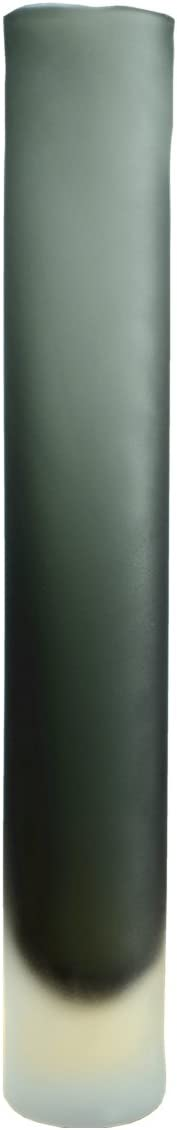 Lx House Gray Matte Straight Glass Vase for Home or Wedding by Cylinder Shape,Three Size 6cmWx40cmT,Large